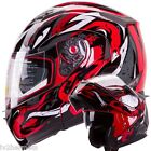 IV2 VIPER (RED) Modular Dual Visor Motorcycle/Snowmobile Flip Up Helmet [DOT]