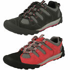 Ladies Clarks Outlay South Red Or Black Nubuck Lace Up Casual Trainer Shoes