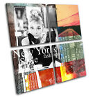 New York Abstract Grunge Urban MULTI CANVAS WALL ART Picture Print