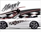 Stinger 3D vinyl graphic decal motorcycle go kart race car decals