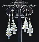 TMHH WHITE CHRISTMAS TREE EARRINGS W/ SWAROVSKI AURORA CRYSTALS STERLING SILVER