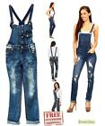 GO Juniors women's Destroyed Romper Blue Denim Jeans Jumpsuit Distressed Overall