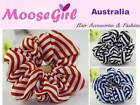 Strips Scrunchies Women Ladies Hair Ring Hair tie Ponytail Holder Rubber Band