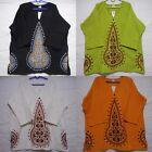 African Dashiki shirts MudCloth Organic Cotton Hippie vintage Tribal plus poncho