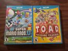 New Super Mario Bros. + Captain Toad (Nintendo Wii U LOT) Complete - Tested