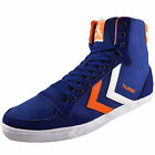 Hummel Mens Slimmer Stadil High Top Classic Retro Trainers Blue *AUTHENTIC*