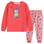 Pyjamas Girls Winter Cotton Knit Pjs (Sz 3-7) Set Pink Sleepy Cat Sz 3 4 5 6 7