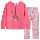 Pyjamas Girls Winter Cotton Flannel Pjs (Sz 8-14) Set Pink Paris Sz 8 10 12 14