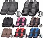 Combo SUV PU Synthetic Leather Front Seats Back Bench Covers Steering