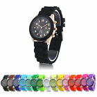 Women Men Geneva Silicone Jelly Gel Quartz Sports Wrist Watch Dressy Colorful image