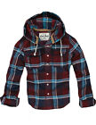 Womens CALI HOLI Slim Skinny Fit Tunic Flannel Hoodie Shirt  Burgundy 9831733