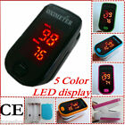 CE  colorful LED display Fingertip Pulse oximeter spo2Blood Oxygen meter monitor