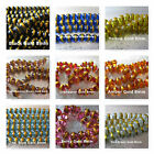 Foil Painted Beads Gold Foiled Assorted Colors 8mm Beads 35 Glass Beads per lot