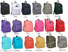 Classic Basic Large Student Backpack Bag Black Travel Carry-on Trip School 2045