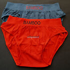 "2 Womens SEAMLESS Briefs BAMBOO Fiber Full Coverage US M L Waist 32"" 34"" 36"" 6 7"