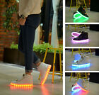 Unisex LED Light Up Shoes Luminous Boots Running Shoe Casual USB Charger Black