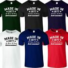 MADE IN 1977 Mens 40 Years Of Being Awesome 40th Birthday Gift Top TShirt