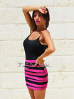 Womens New Sexy Black Fuchsia Pencil MIni Bandage Skirt Thick Rayon Hot Bodycon