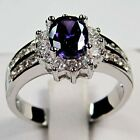 10K White Gold Filled Ladies Amethyst Ring