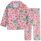 Pyjamas Girls Winter Flannel (Sz 3-7) Pjs Set Pink Owls Sz 3 4 5 6 7