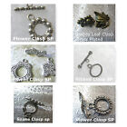 Assorted Clasps Snake Grapes Flowers Ribbed Silver Plated Brass Plated