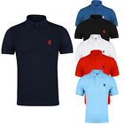 NEW MENS POLO SHIRT TOP SHORT SLEEVE PIQUE DESIGNER PLAIN T-SHIRT TEE HORSE GOLF image