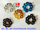 M6X22X4 COUNTERSUNK ALUMINIUM COLORED WASHERS TURNED FENDER FAIRING ALLOY