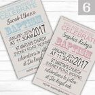 Personalised Boy or Girl Christening Baptism Invitations Invites