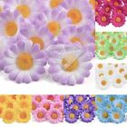 50pcs Daisy Gerbera Silk Flowers Heads Bridal Clips Wedding Decoration Lots 40mm