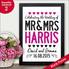 Wedding Gifts for Mr & Mrs - Personalised Wedding Presents Gifts Bride Groom