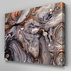 AB1026 Modern Orange Grey Geode Canvas Wall Art Abstract Picture Large Print