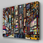 AB624 New York Times Square Sketch Canvas Wall Art Abstract Picture Large Print