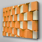 AB714 Modern 3D Geometric orange Canvas Wall Art Abstract Picture Large Print