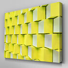 AB715 Modern 3D pattern yellow Canvas Wall Art Abstract Picture Large Print