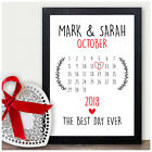 Day You Were Married Personalised Wedding Gifts Presents Bride Groom Mr & Mrs