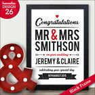 Congratulations Personalised Print for Wedding Engagement Anniversary Gifts