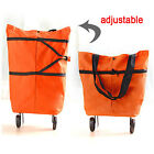 Folding Shopping Bag with Wheels Protable Foldable Shopping Cart Trolley Easy