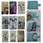 For ZTE Cell Phone PU Leather Protective Skin Velcro Cover W/ Card Holder Wallet