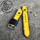 Handmade Yellow Star Leather Watch Strap Band PAM or big watch.