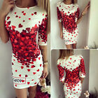 Summer Dresses Womens Sexy Party Cocktail Bodycon Dress Lady Long Tops Size S-L