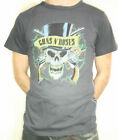 GUNS N ROSES Vintage Style Skinny T-Shirt Charcoal Official Bravado 2006