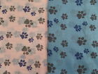 Dog / cat paw print cotton, frayed, ladies scarf - Help Tia Greyhound Rescue