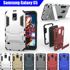 TPU Case Cover For Samsung Galaxy S5 Iron Man Armor Shockproof Heavy Duty Stand