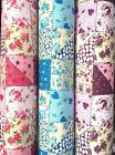 PolyCotton fabric Designer Colourful Roses floral Heart Dots filled patch work
