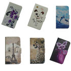For Samsung Cell Phone PU Leather Flower Floral Flip Case Skin Cover&Card Wallet