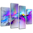 MAB968 multicoloured blue Canvas Wall Abstract Art Multi Frame Picture Print