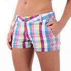BNWT Roxy 'Malia' Plaid Shorts, Walkshorts, 100% Cotton