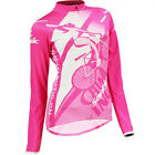 Women's Cycling Jersey Bike Riding Jacket Bicycle Clothing Long Sleeve M-XL Pink