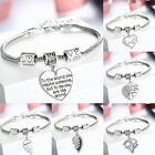 Family Mother Mom Son Daughter Grandmother Bangle Bracelet Charm Women Jewelry