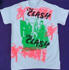 THE CLASH Punk T-shirt London Riot Album Cover print Tee multi prints